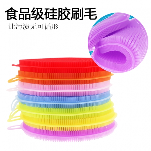 Multifunctional cleaning brush for silica gel